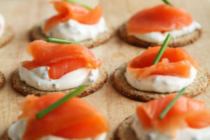 Salmon on a cracker